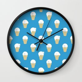 Polar Bear Ice Cream Pattern Wall Clock