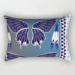 Butterfly Nation Blue Rectangular Pillow