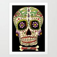 mexican Art Prints featuring Mexican Skull !!! by Adrian Filmore