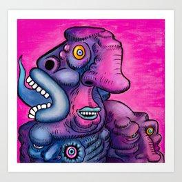 PsychoTounge Art Print