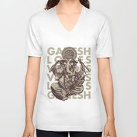 ganesh V-neck T-shirts featuring Ganesh by _MattVector