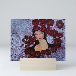 Dreams in purple Mini Art Print