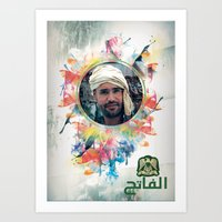 islam Art Prints featuring The 44th : Saif Al-Islam Gaddafi by Galerija