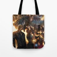 resident evil Tote Bags featuring Resident Evil 6 by Dr-Salvador