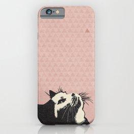 Cat on Pink - Lo Lah Studio iPhone Case