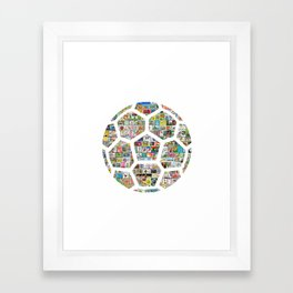 Philately Soccer Ball Framed Art Print