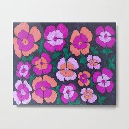Summery Floral Garden Print Metal Print
