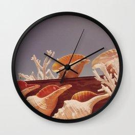 Souvenir Seashells Wall Clock