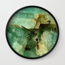 ELEGANT AMAZONITE ABSTRACT PATTERN Wall Clock