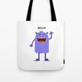 Hello Monster Tote Bag