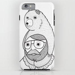 On how baby bears are often used as winter hats iPhone Case