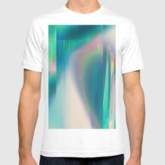 Pacifica glitch MEDIUM Mens Fitted Tee White