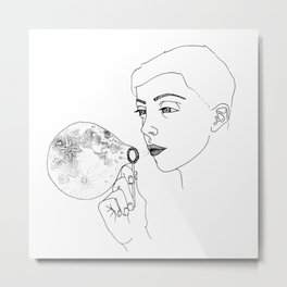 Moon bubble Metal Print