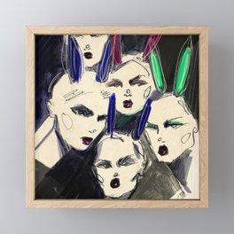 Hey, bunny! Framed Mini Art Print