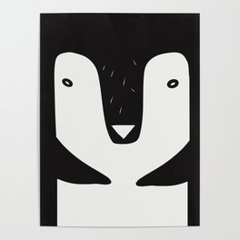 nordic penguin b/n Poster