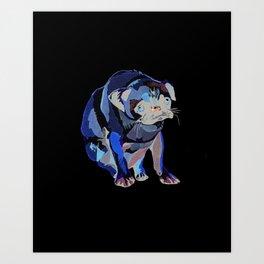 Pug Print Art Print