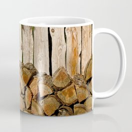 SUMMER WOODPILE ORCAS ISLAND PACIFIC NORTHWEST Coffee Mug