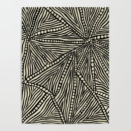 Black and Ivory Triangles Poster