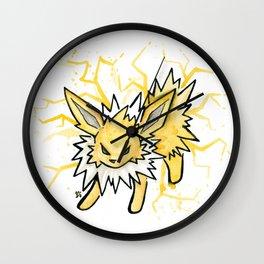 Jolteon - Splatter Wall Clock