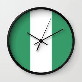 Flag of nigeria 2 -nigeria, nigerian,africa,hausa,igbo,Yoruba,Naira,Lagos,Kano Wall Clock