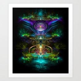 Neons - Fractal - Visionary - Manafold Art Art Print