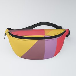 Colorful abstract geometric pattern design Fanny Pack