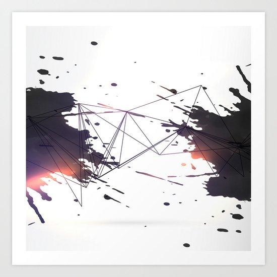 Geometric splatter Art Print
