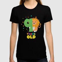 Nine Years 9th Birthday Party Lion T-Shirt D0da9 T-shirt
