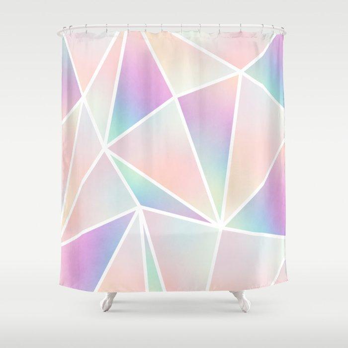 Iridescent Geo Shower Curtain