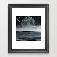 oceans of tranquility Framed Art Print