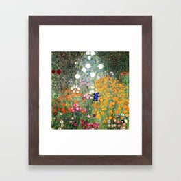 The Garden by Gustav Klimt Framed Art Print