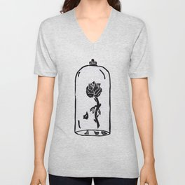 Rose under glass Unisex V-Neck