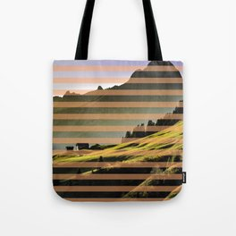 Landscape pattern (with pink touches) Tote Bag