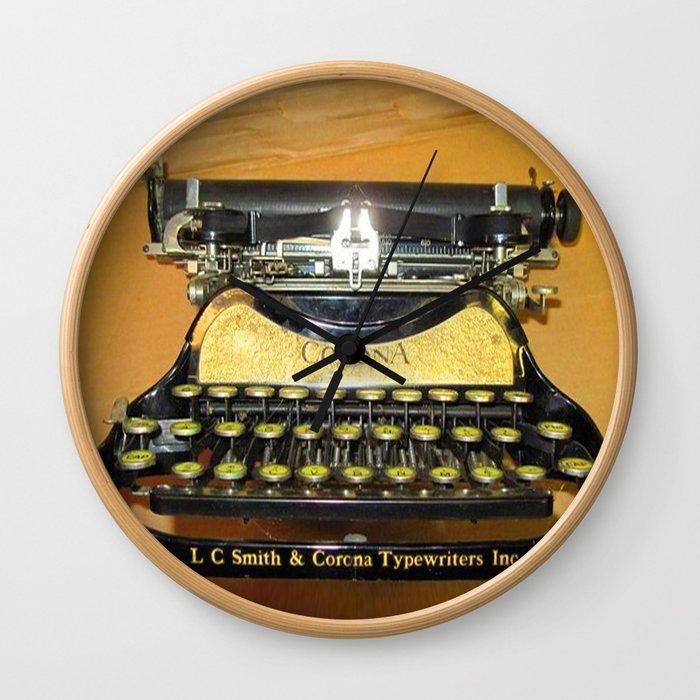 corona vintage typewriter Wall Clock