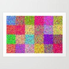 Twenty-four Squares Art Print