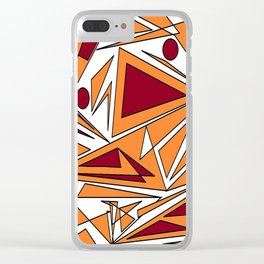 abstract orange geometrie Clear iPhone Case