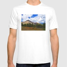Fall in the Mountains Mens Fitted Tee MEDIUM White