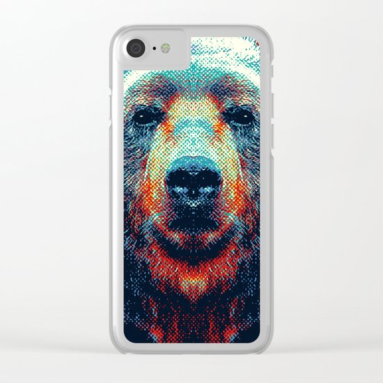 Bear - Colorful Animals Clear iPhone Case