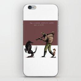 Caperucita siempre será la víctima. iPhone Skin
