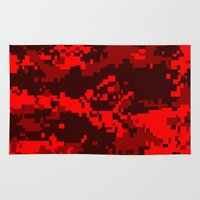 war Area & Throw Rugs featuring War by Spotted Heart