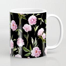 Peonies in Her Dreams - black Coffee Mug