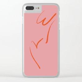 Original W&V in pink Clear iPhone Case