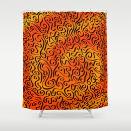 Sunset Swirls Shower Curtain