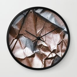 Rose Gold and Silver Abstract Wall Clock