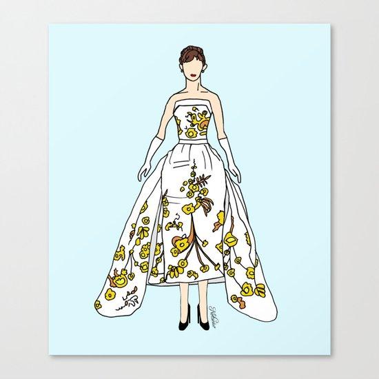 Audrey Hepburn Vintage Retro Fashion 2 Canvas Print