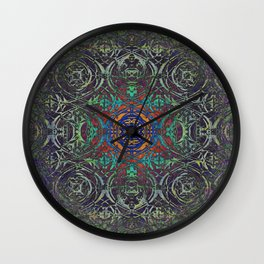 Ironwork Psychedelic Wall Clock