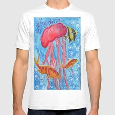 Jelly Fish Mens Fitted Tee MEDIUM White