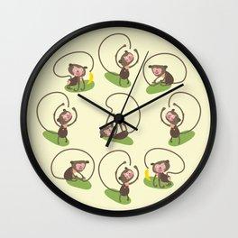 Stupid Monkey Wall Clock