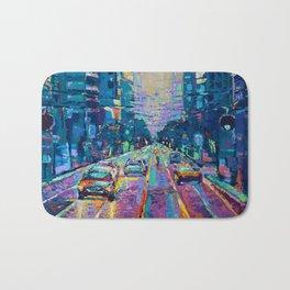 Streets of San Francisco - modern urban city landscape at sunrise by Adriana Dziuba Bath Mat