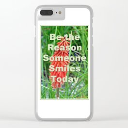Be the Reason Clear iPhone Case